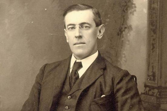 Photo of Woodrow Wilson from the Princeton University Archives