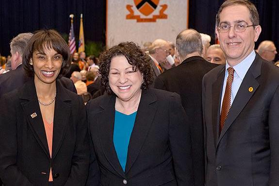 Image of CC Rouse, Sonia Sotomayor and President Eisgruber